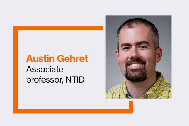 Associate professor Austin Gehret.