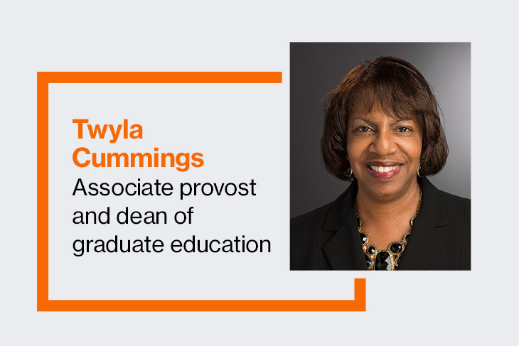 Twyla Cummings, associate provost and dean of graduate education.