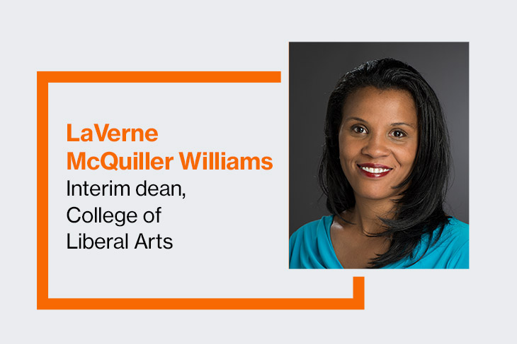 LaVerne McQuiller Williams, interim dean, College of Liberal Arts.