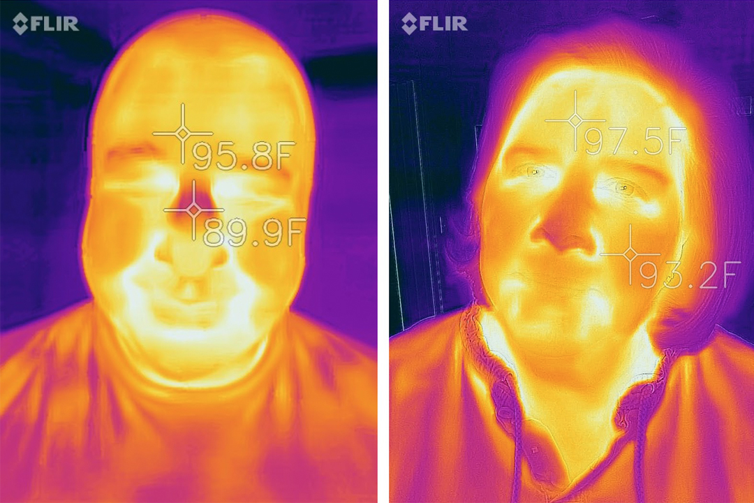 thermal infrared image of a person