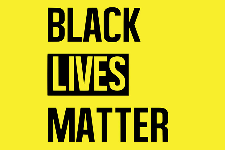 graphic that reads: Black Lives Matter.