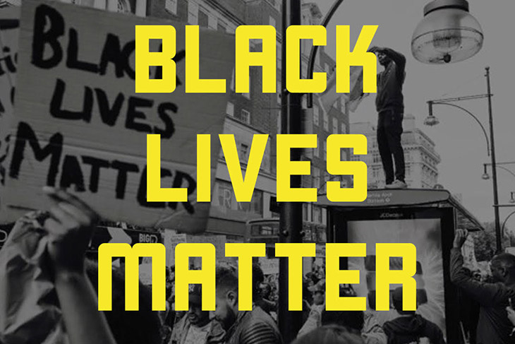 graphic with the words Black Lives Matter.
