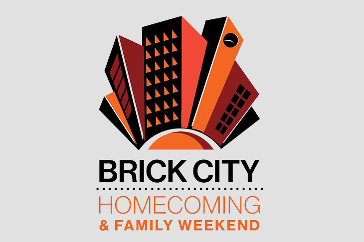 Brick City Homecoming and Family Weekend logo.