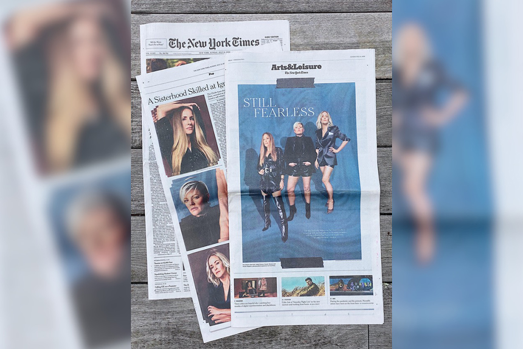 A New York Times spread of photos of the Chicks taken by Sam Cannon.
