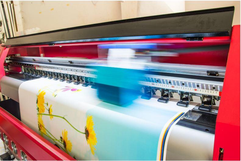Wide Format InkJet printer in action