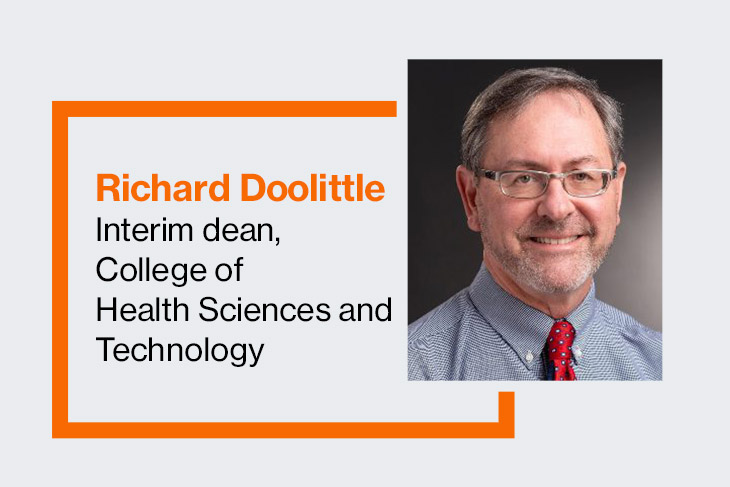 Richard Doolittle, interim dean, College of Health Sciences and Technology.