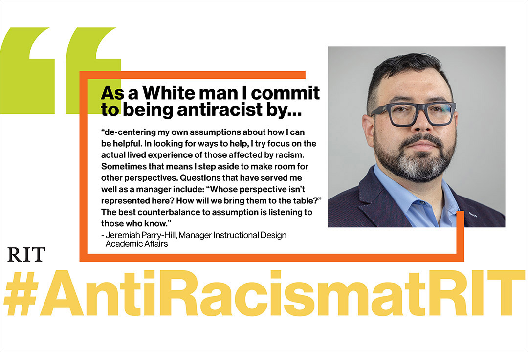 statement by Jeremiah Parry-Hill committing to being antiracist.