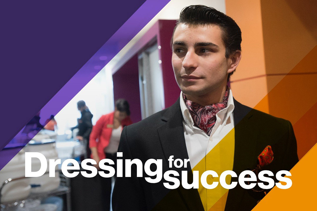 Student Nick Renzoni on Dressing for Success.
