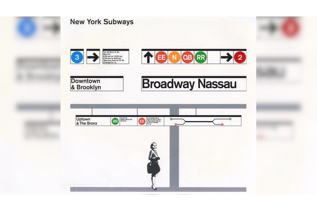 NYC Subway signage designed by Massimo Vignelli.