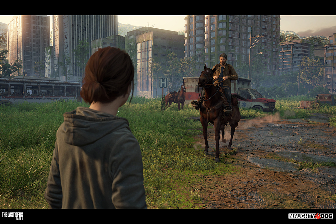 """A rendering of a scene from the game """"The Last of Us Part II."""""""