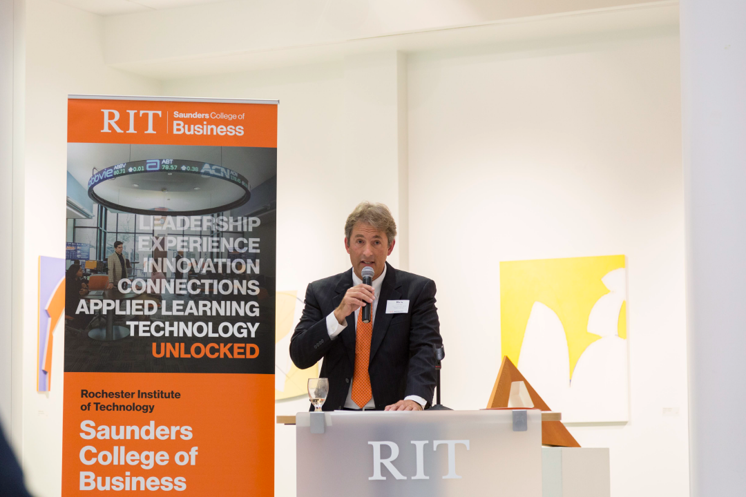 Rick Lagiewski, Ph.D. speaking at an event