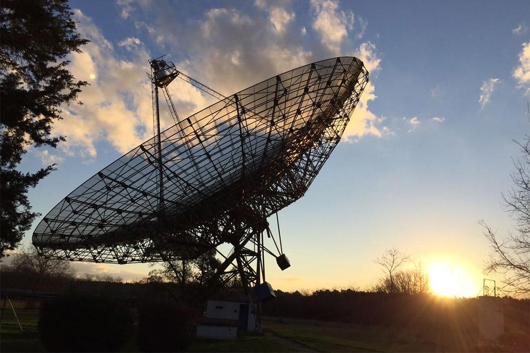large ground satellite.