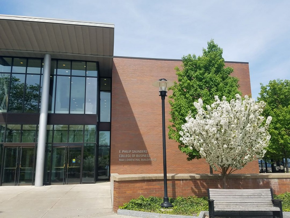 Front of Saunders College of Business