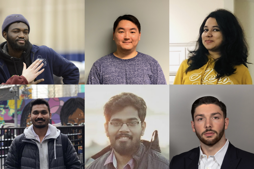 Six college students smiling.