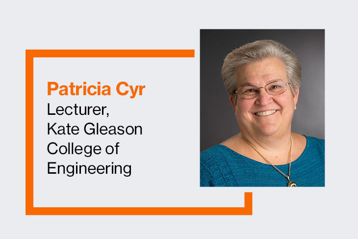 Patricia Cyr, lecturer, Kate Gleason College of Engineering.