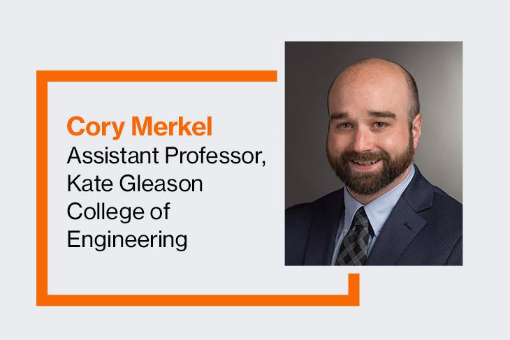 Cory Merkel, assistant professor, Kate Gleason College of Engineering.
