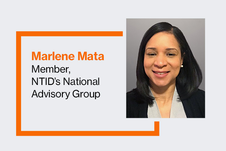 Marlene Mata, member, NTID's National Advisory Group.