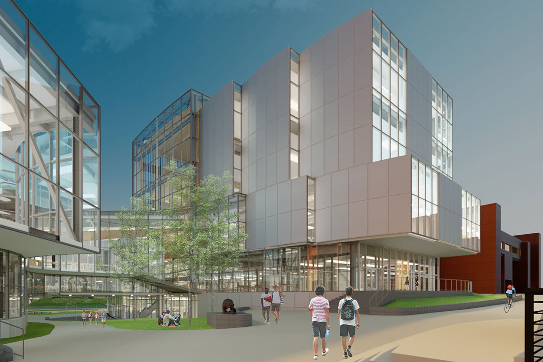 artist's rendering of a theater and maker space on the RIT campus.