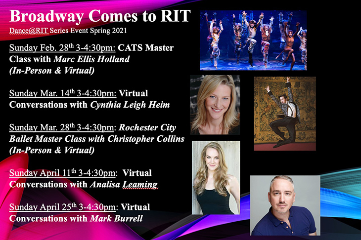 flier for Broadway Comes to RIT.