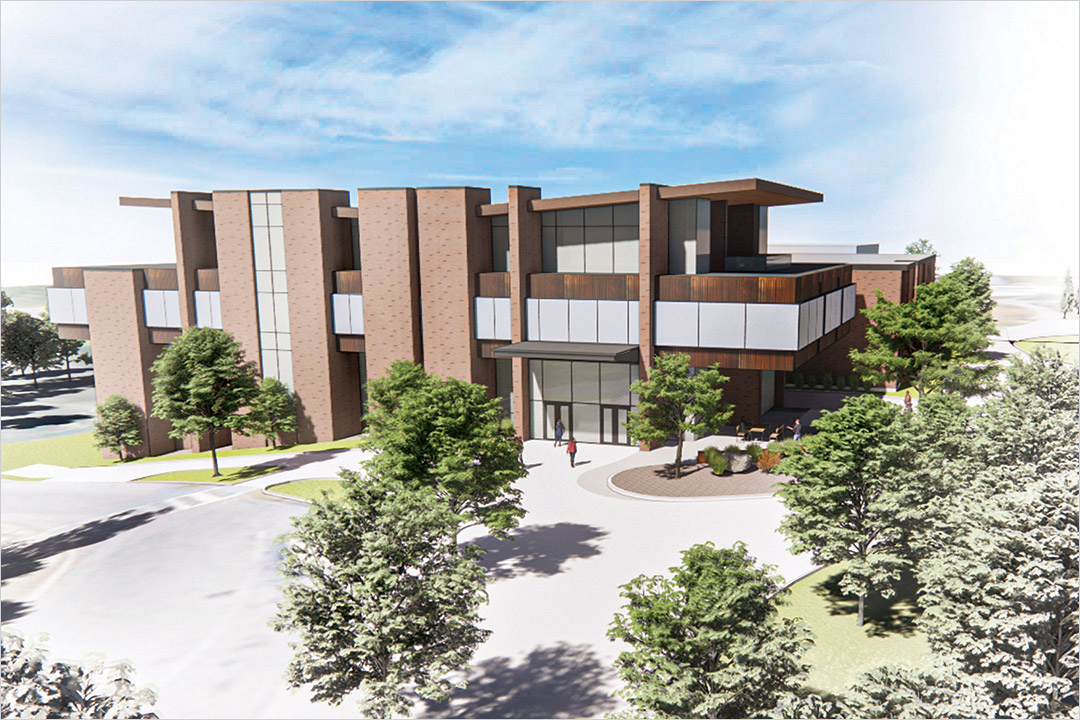 artists rendering of renovations to Lowenthal Hall.