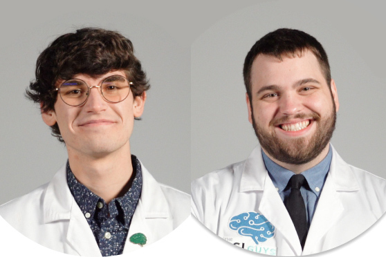 side-by-side portraits of two researchers.