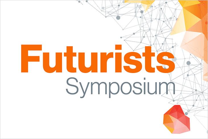 graphic for futurists symposium.