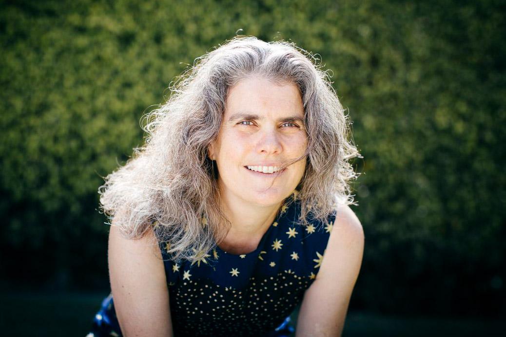 environmental portrait of scientist Andrea Ghez.