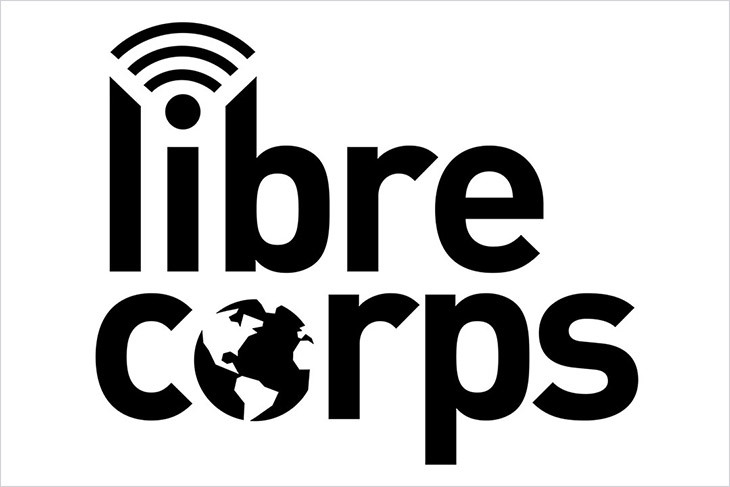 The image shows the Libre Corps logo in black and white.