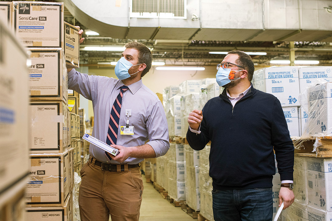 Students learn supply chain management by solving real-world problems