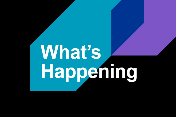 What's Happening graphic.