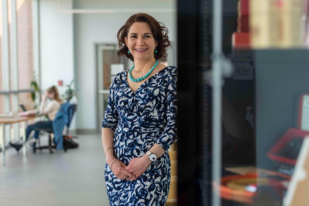 environmental portrait of professor Blanca Lapizco-Encinas.