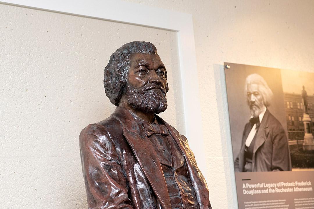 sculpture of Frederick Douglass.