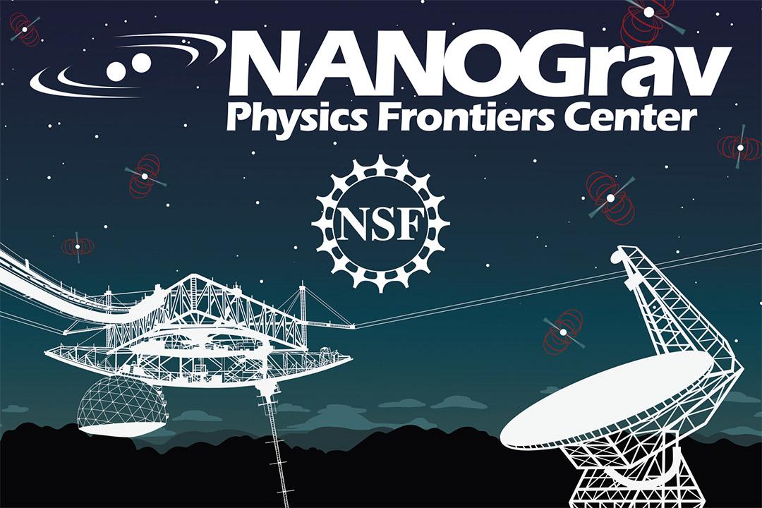 NANOGrav Physics Frontiers Center graphic.