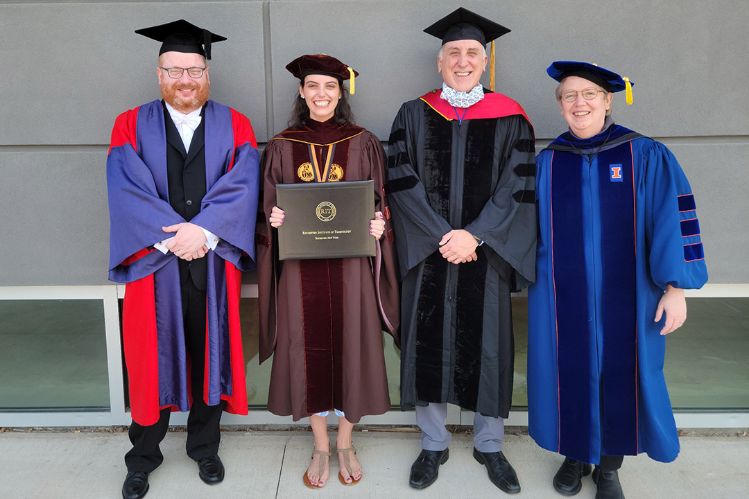 First mathematical modeling Ph.D. student graduates from RIT