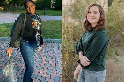 Ayanna Smith and Emi Knape Time Inc. scholarship recipients