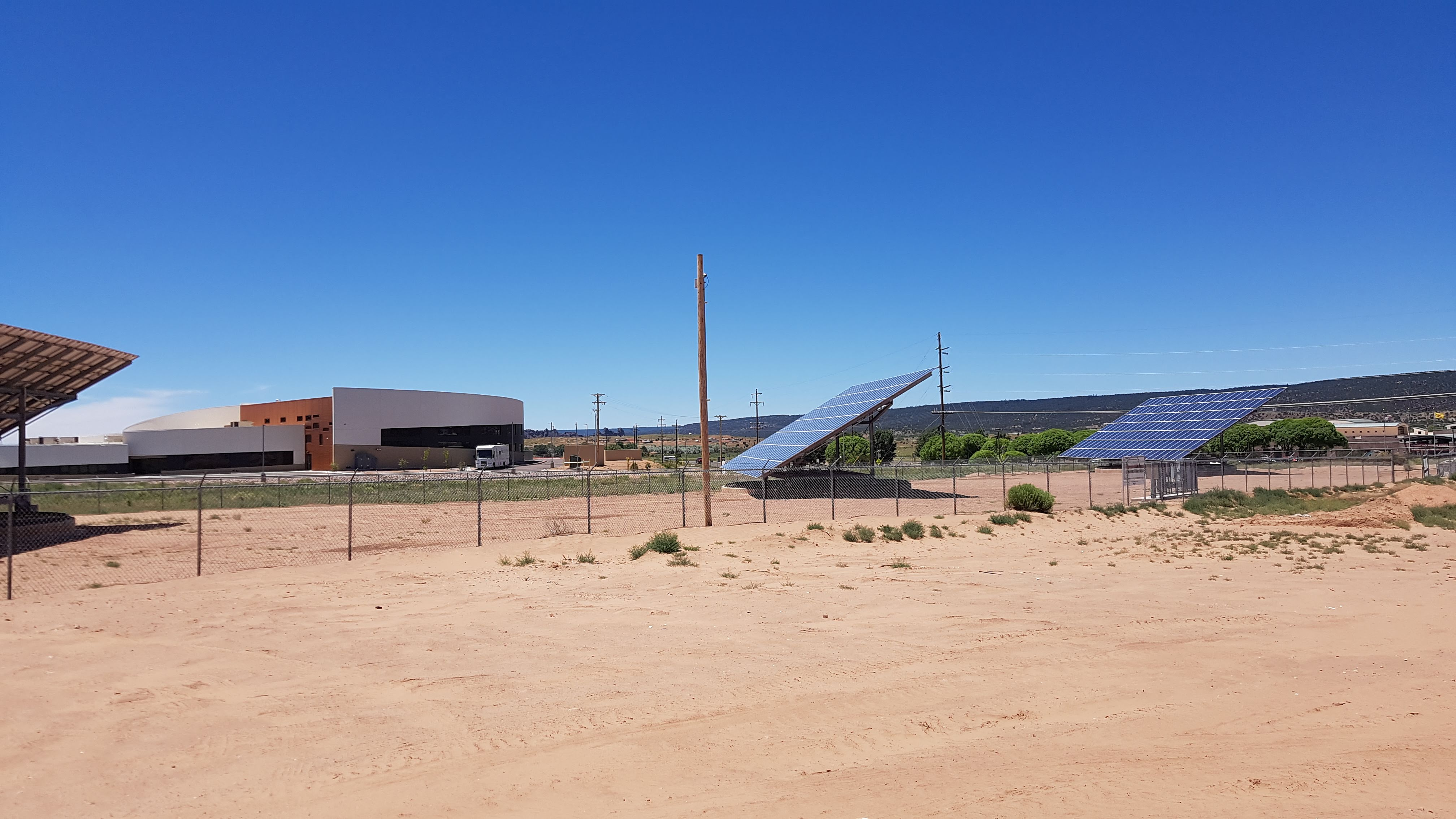 Solar panels for the Kayenta Solar Project on the Navajo Nation