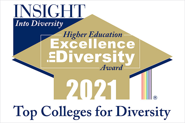 graphic for INSIGHT into Diversity Higher Education Excellence in Diversity Award 2021.