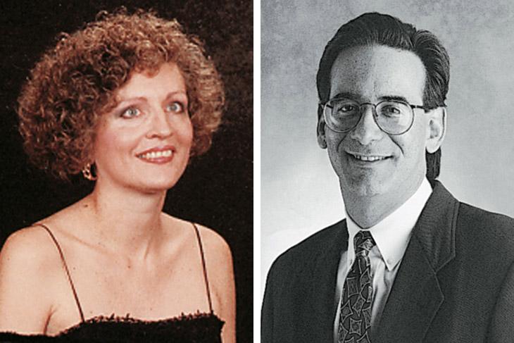 side-by-side portraits of Deborah L. Medwig and Philip M. Rosenzweig.