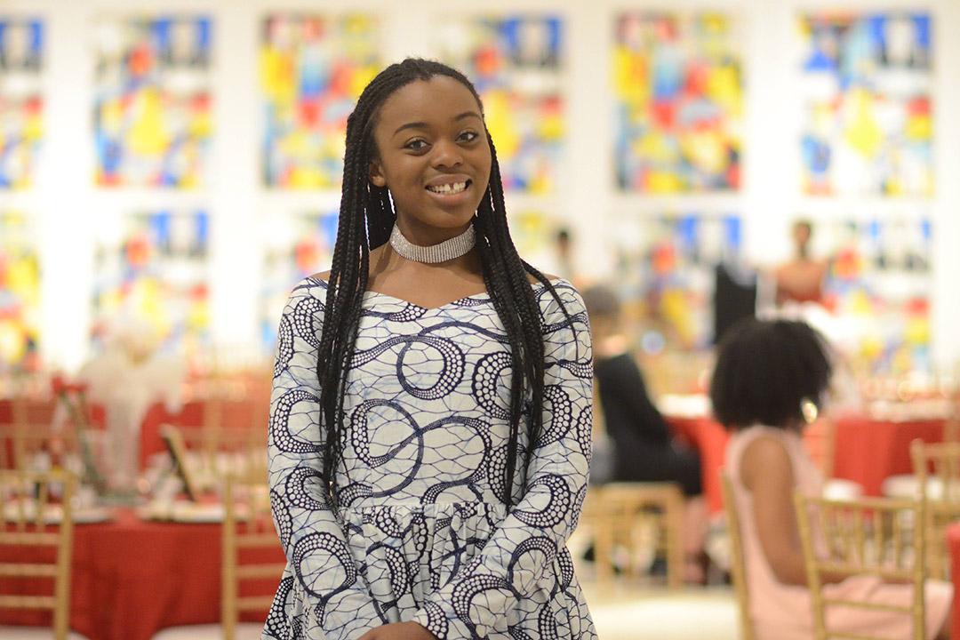 environmental portrait of student Ndidi Chimah.