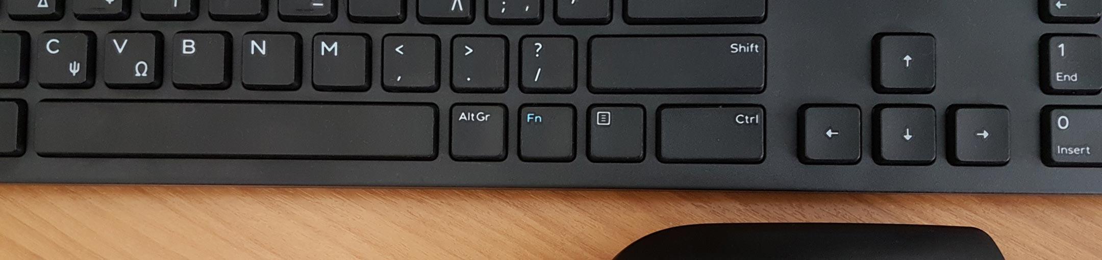 Close up of black keyboard.
