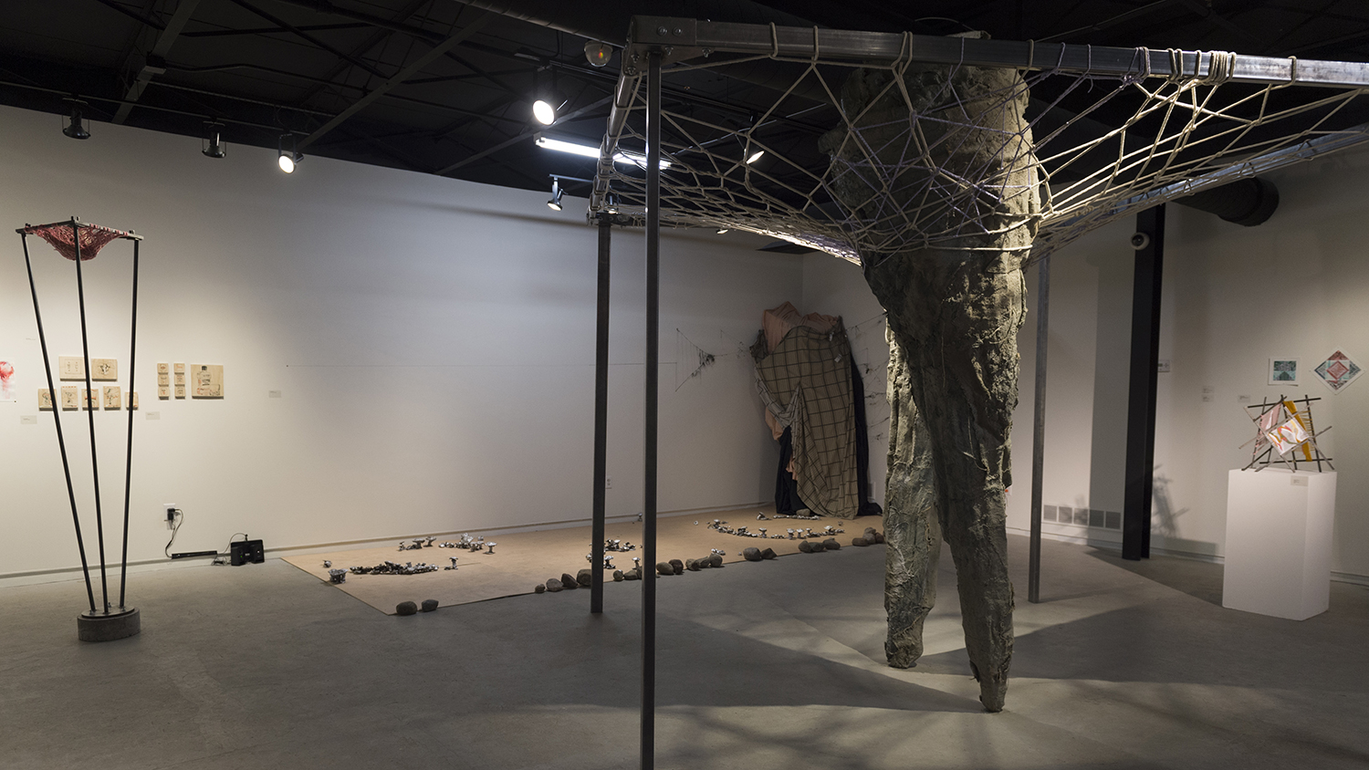 Sculptures by Holly Ferguson in RIT's old Gallery r.