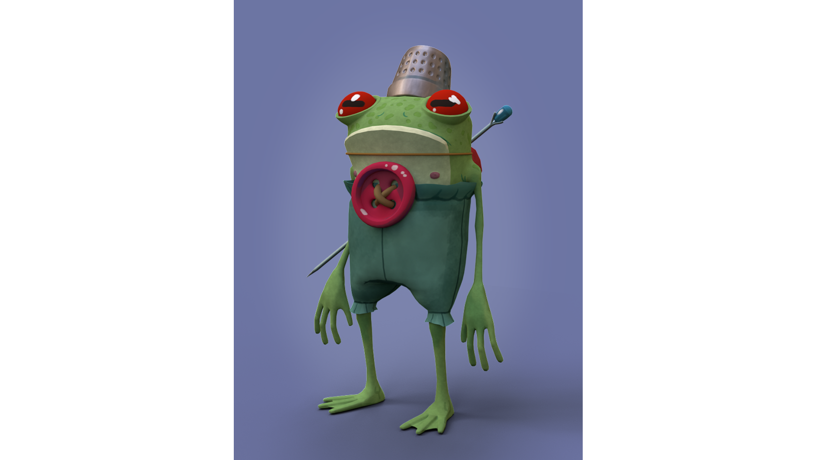 A design of a frog based on concept art.