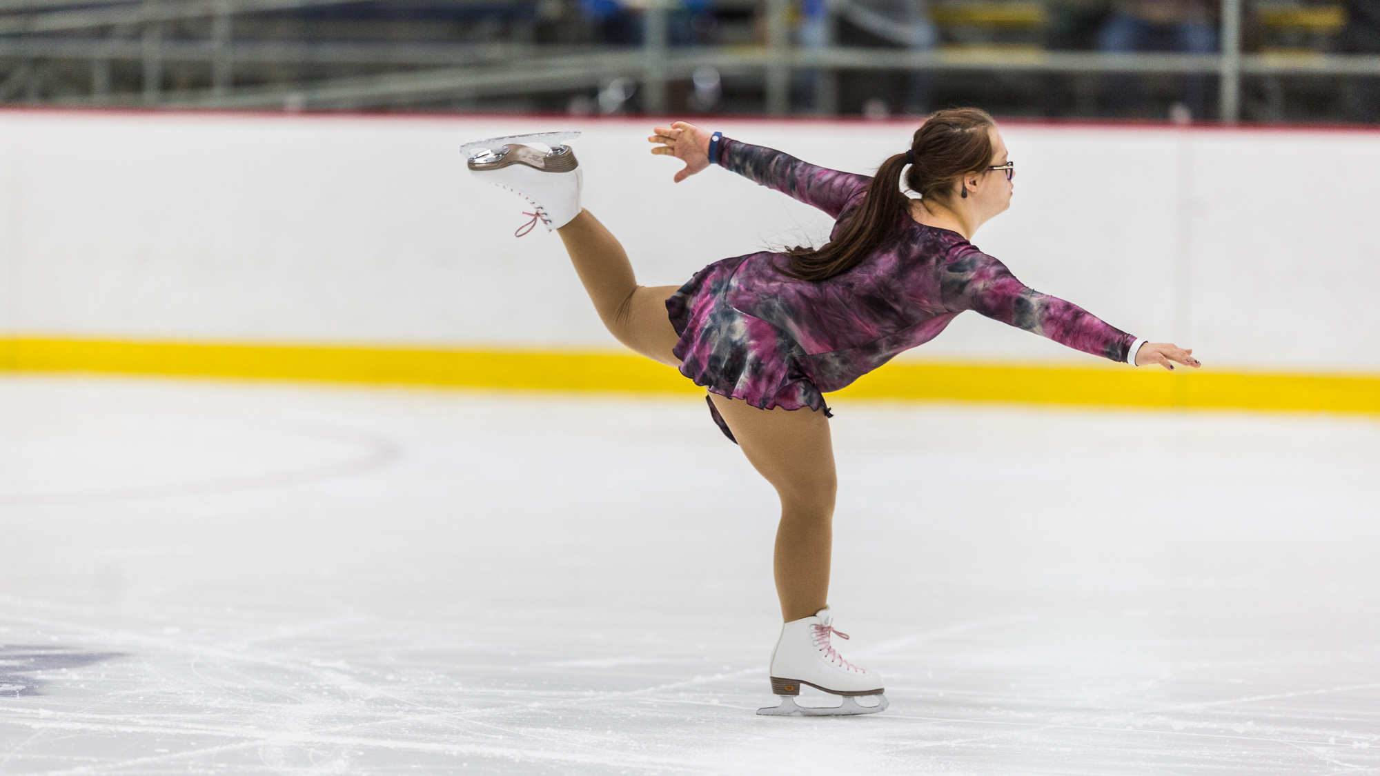 Lauren Marraffa performs during the figure skating competition. Sports photography by Zoe Smith.