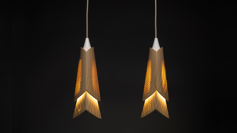 Hanging lights with bulbs on