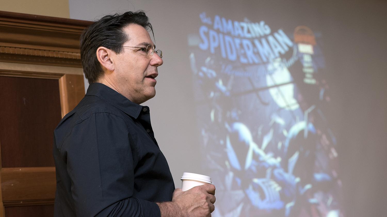 Adam Kubert during a presentation at RIT