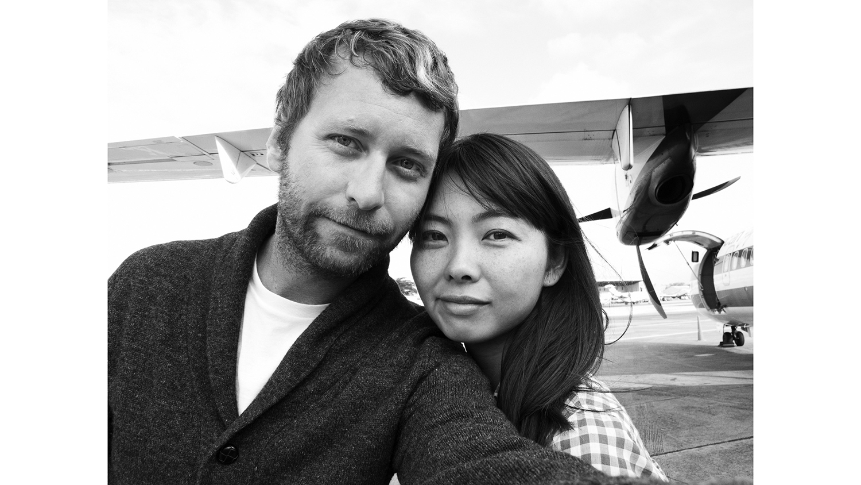 Mark Williams and Sara Hirakawa take a selfie