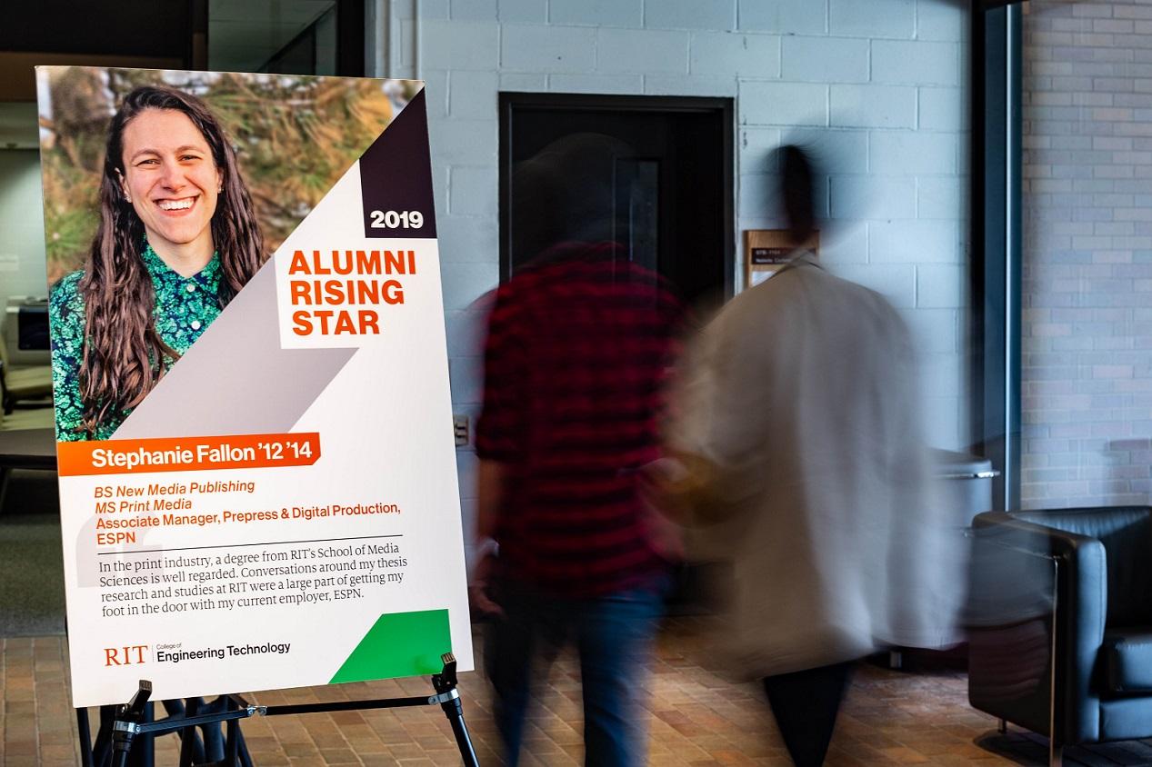 Stephanie Fallon, an alumnae of the master's degree in print media, is awarded the 2019 Rising Star Award