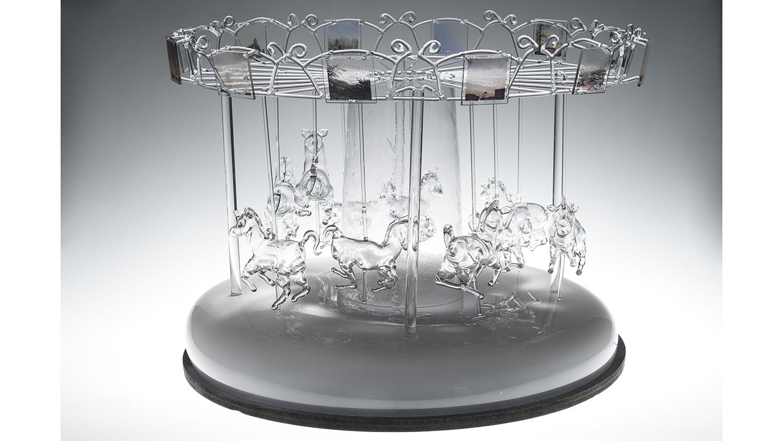 A glass carousel