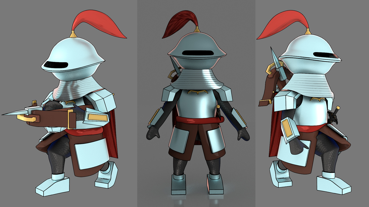 Character animation of a knight