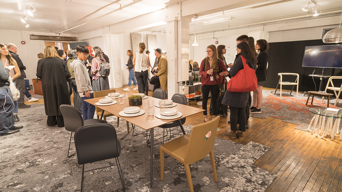 The student-curated living space for WantedDesign's Wanted Interiors exhibit
